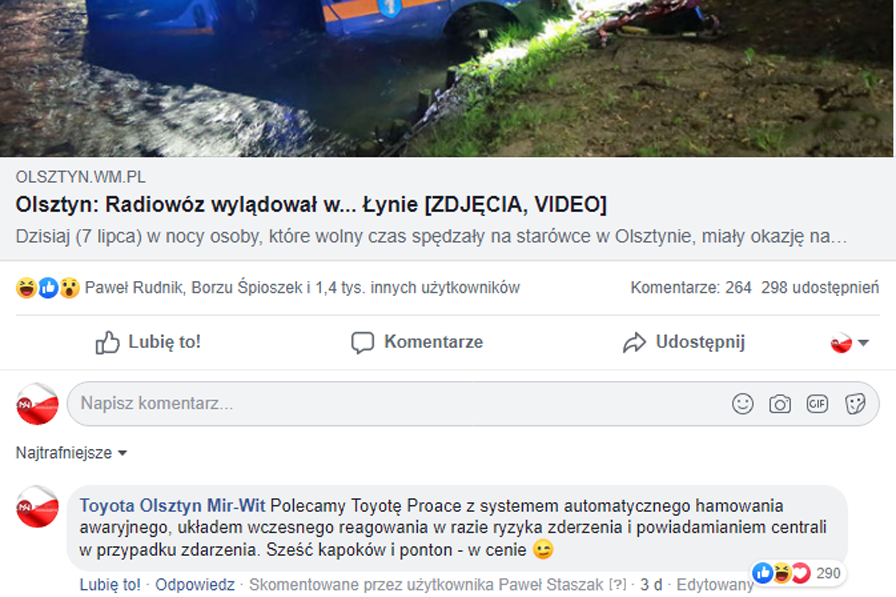 social media prowadzenie facebooka fanpage poznań real-time marketing olsztyn