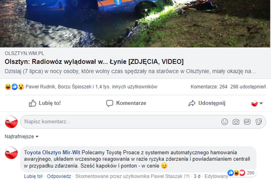 social media prowadzenie facebooka fanpage poznań real-time marketing olsztyn